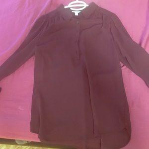 Burgandy dress shirt. NWOT